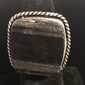 Black Tourmaline Ring 6.5